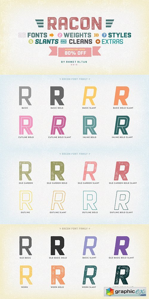 Racon Font Family - 26 FONTS