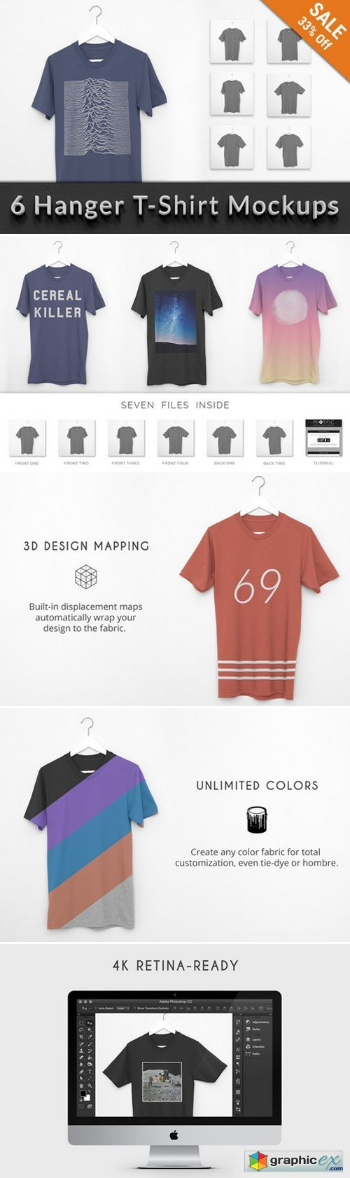 T-Shirt Hanger Apparel Mockups