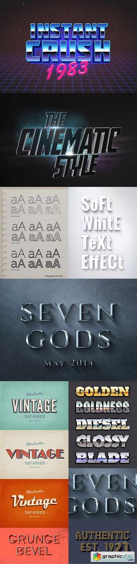 9 Stunning Text Effects for Photoshop