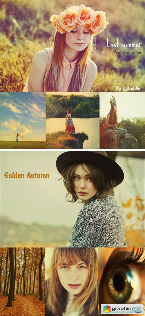 Photoshop Actions - Last Summer & Golden Autumn