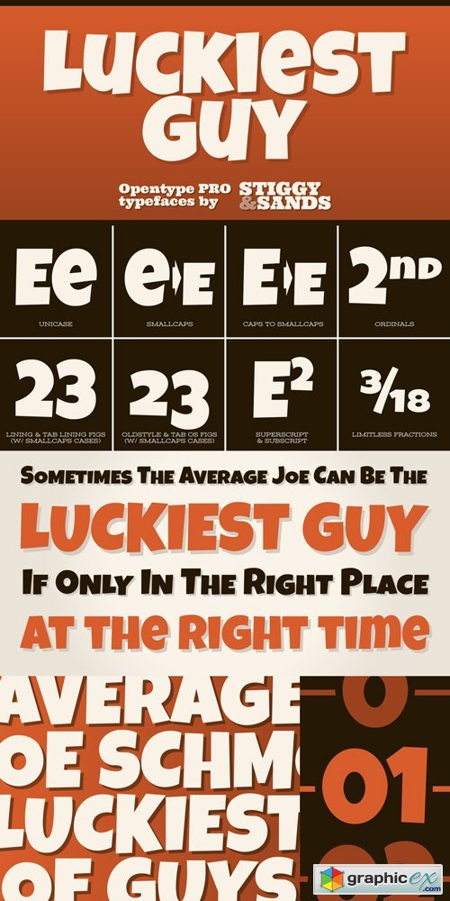 Luckiest Guy Pro Font Family