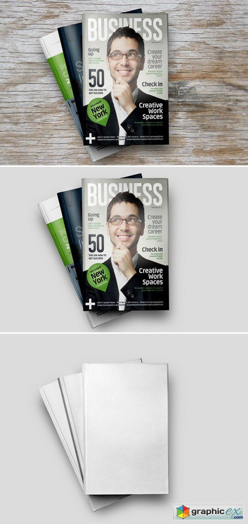 Book Magazine Brochure Mock up 4