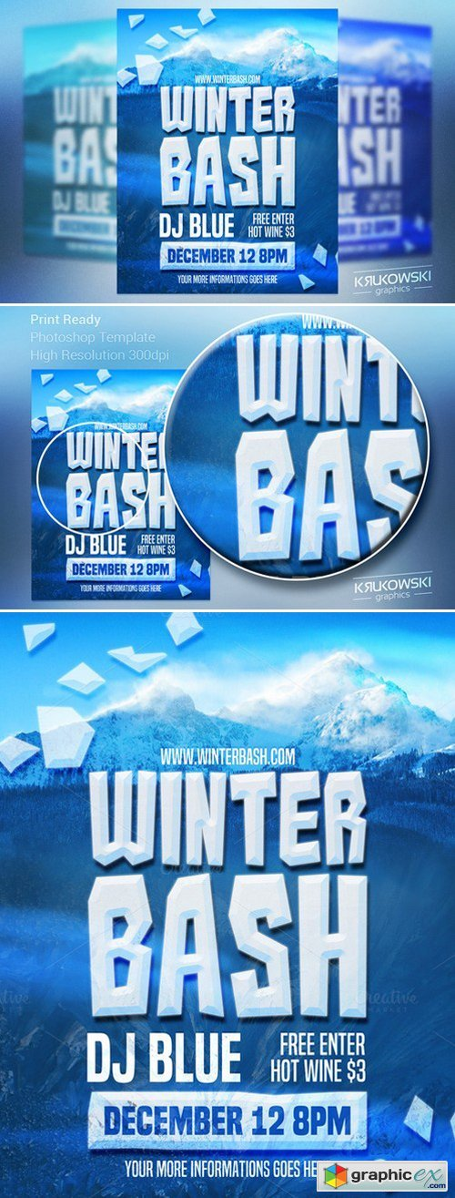 Winter Bash Flyer Template 440462