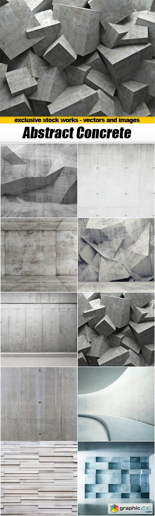 Abstract Concrete Backgrounds - 10x JPEGs