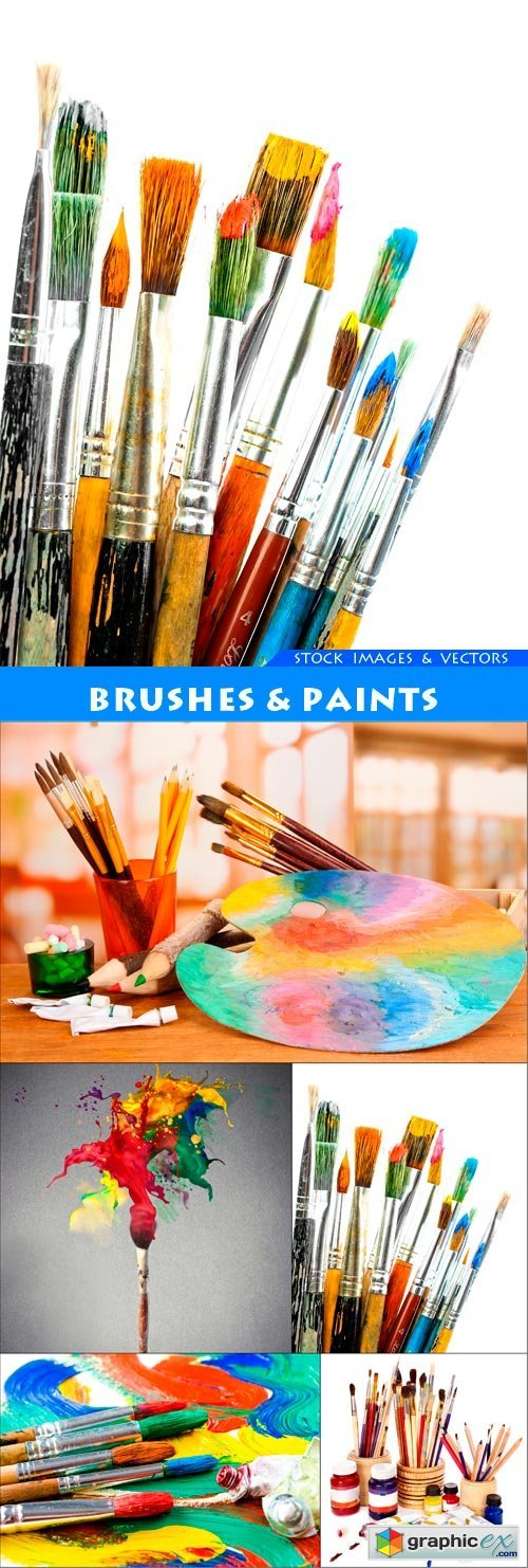 Brushes & Paints 5X JPEG