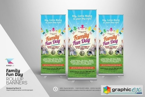 Family Fun Day Roll-up Banners