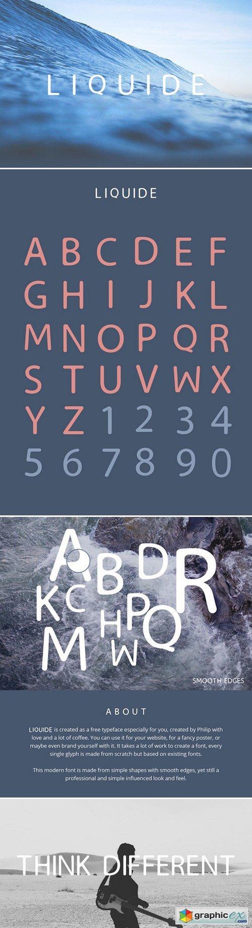 Liquide – Typeface » Free Download Vector Stock Image Photoshop Icon