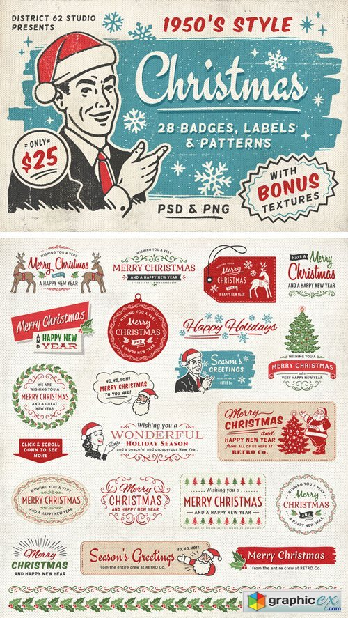 Retro Christmas Labels vol.2