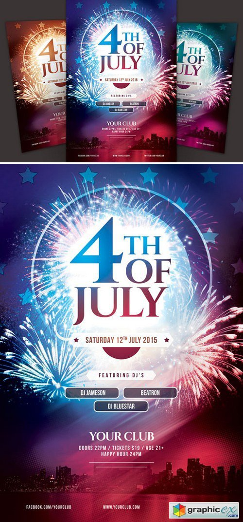 4th of July Flyer 297680