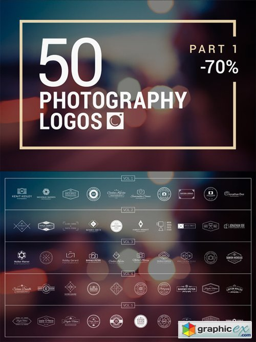 50 Photography Logos (Vol. 1-5)
