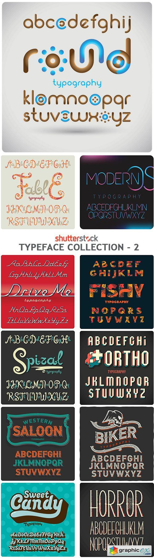 Typeface Collection - 2 - 25xEPS