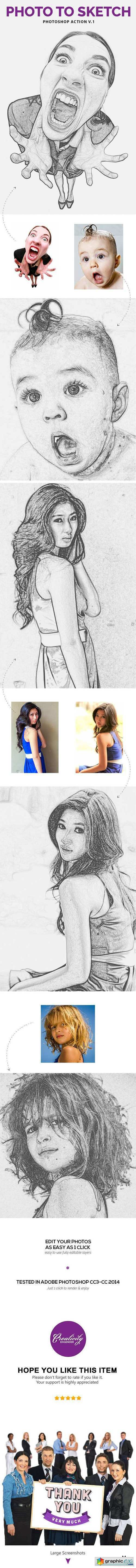 Photo to Sketch V.1 - Photoshop Action