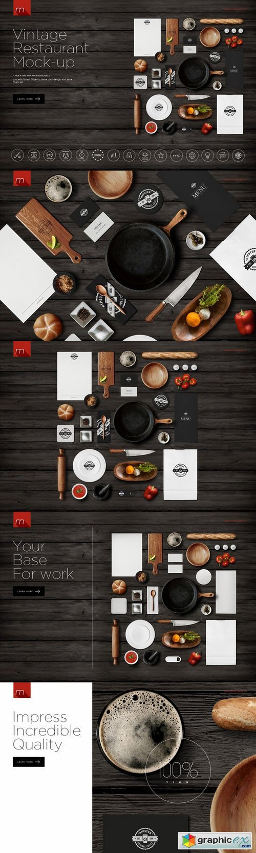 Restaurant Identity Branding Mock-up 450114