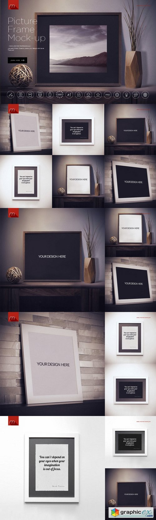 Modern Picture Frame Mock-up 450545