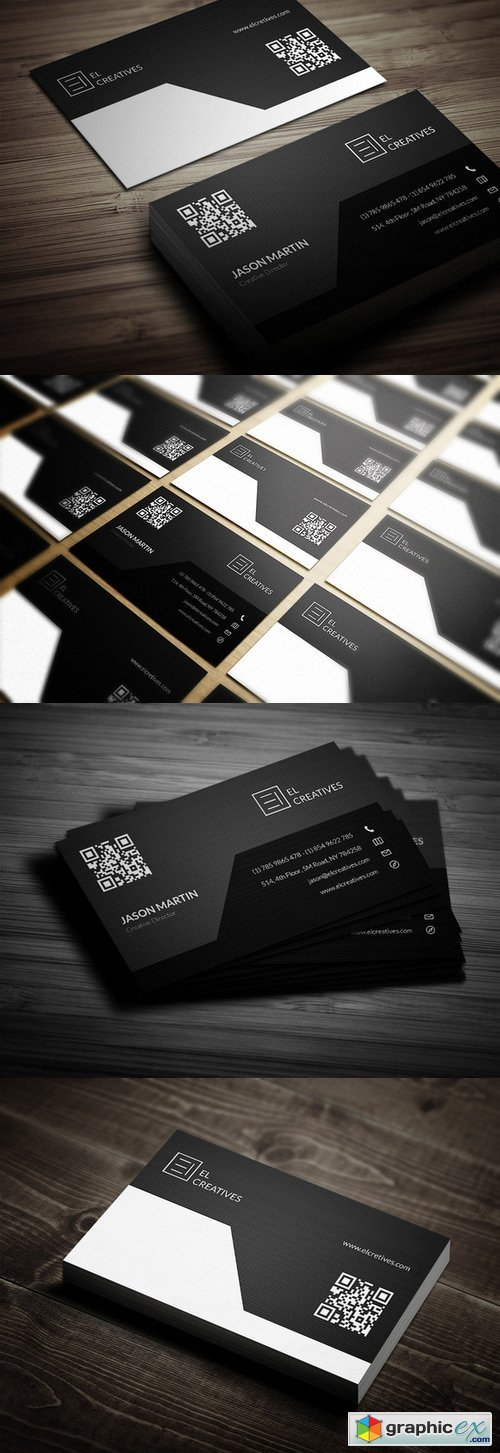 Corporate Dark Business Card 338701