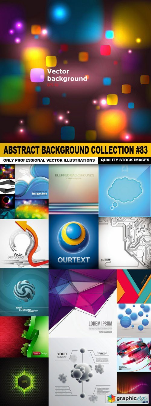 Abstract Background Collection #83 - 20 Vector
