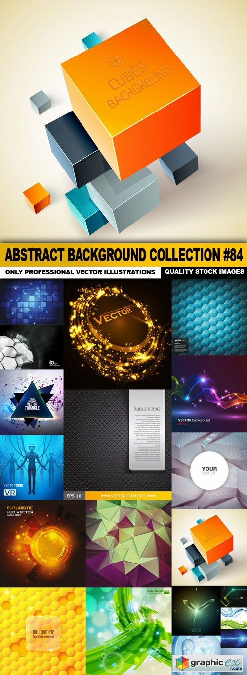 Abstract Background Collection #84 - 20 Vector