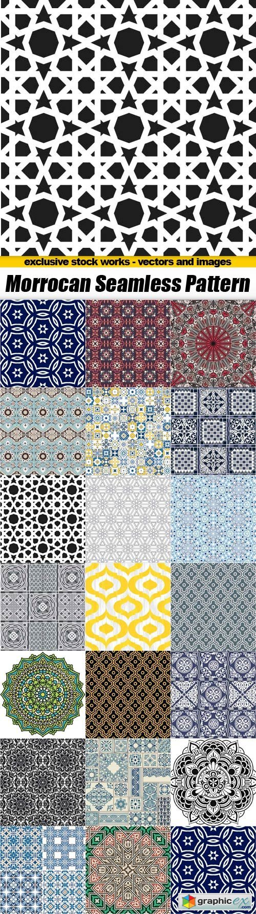 Moroccan seamless Patterns - 20x EPS