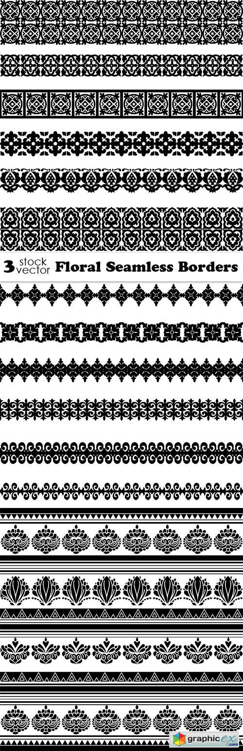 Vectors - Floral Seamless Borders