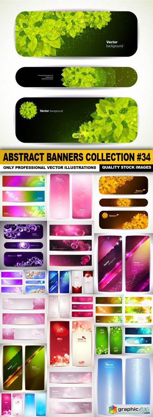 Abstract Banners Collection #34 - 24 Vectors