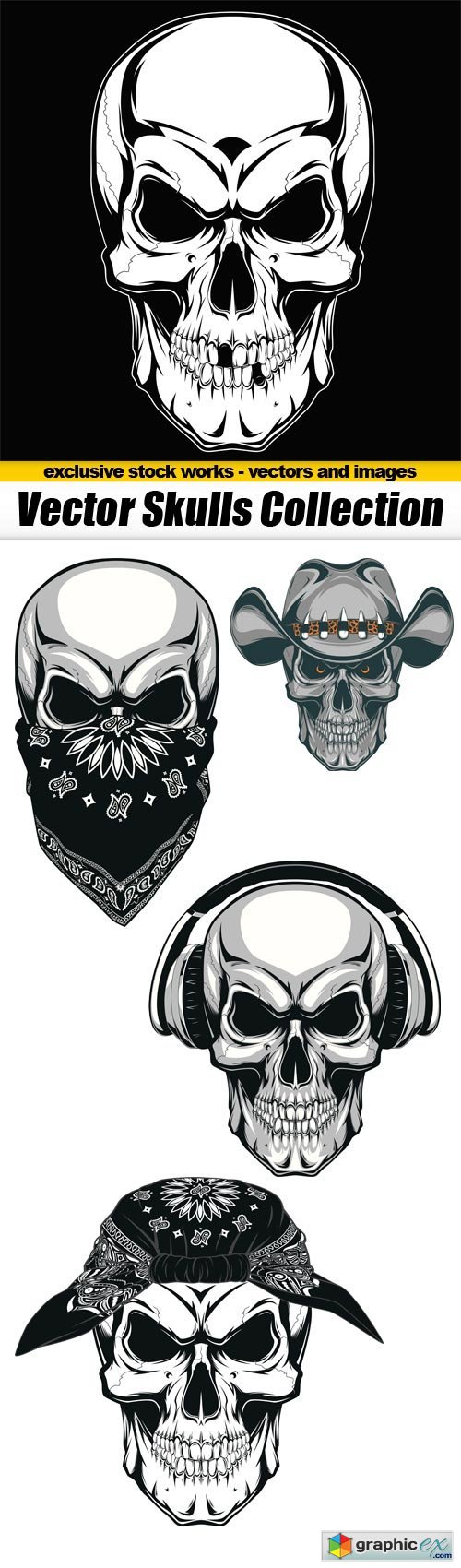 Vector Skulls Collection - 5x EPS