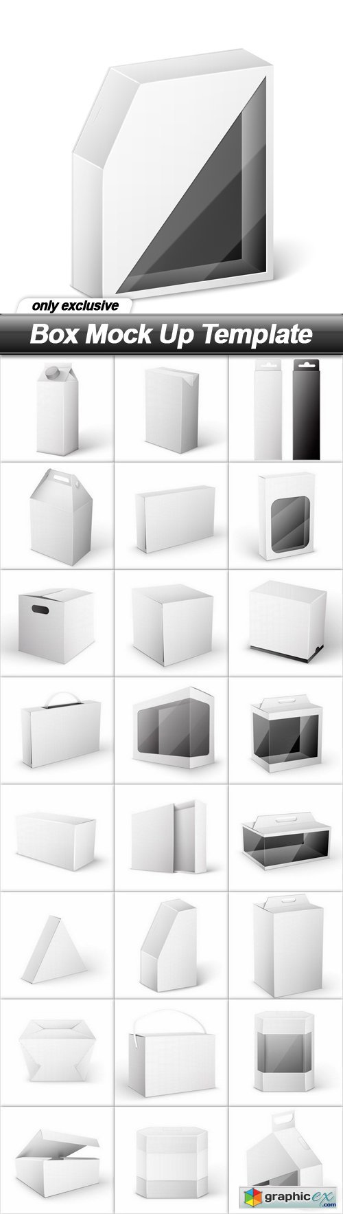 Box Mock Up Template - 25 EPS