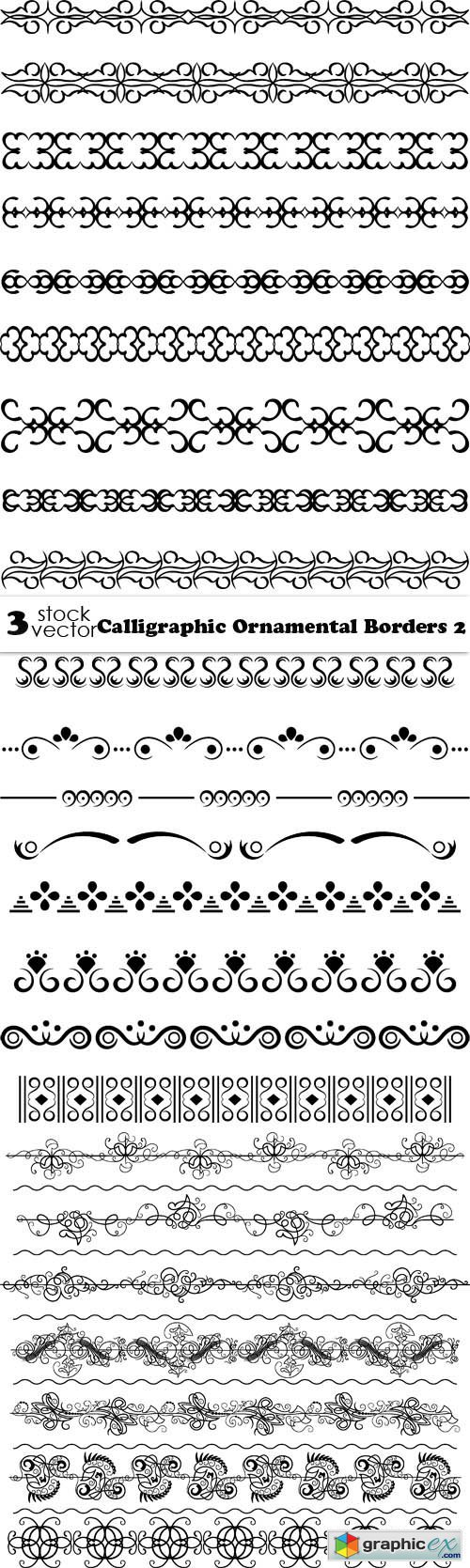 Vectors - Calligraphic Ornamental Borders 2