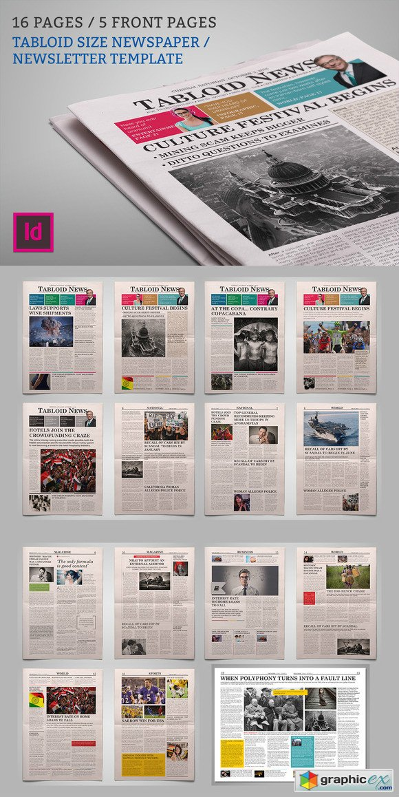 Newsletter Newspaper Template 450450