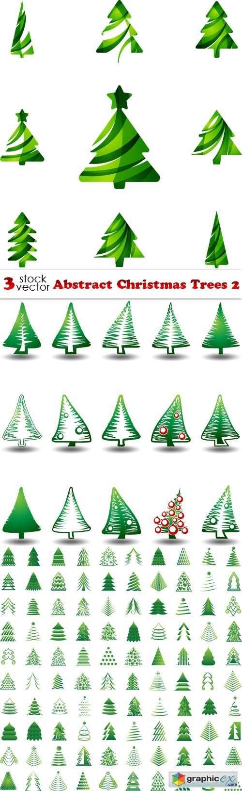 Vectors - Abstract Christmas Trees 2
