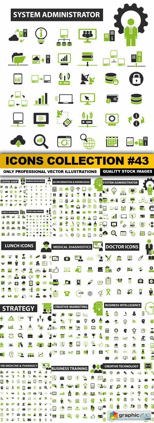 Icons Collection #43 - 16 Vector