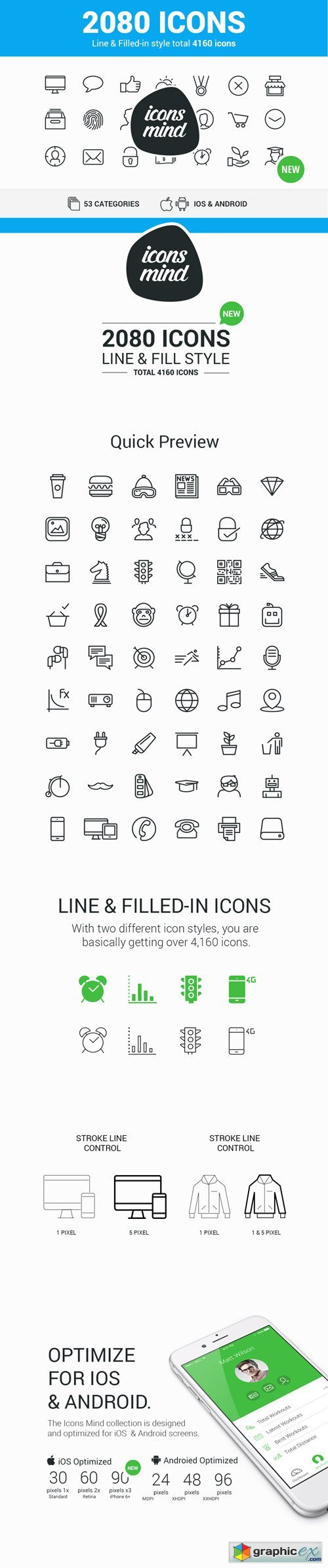 MightyDeals - 2000+ High-Quality Vector Icons (outline and filled)