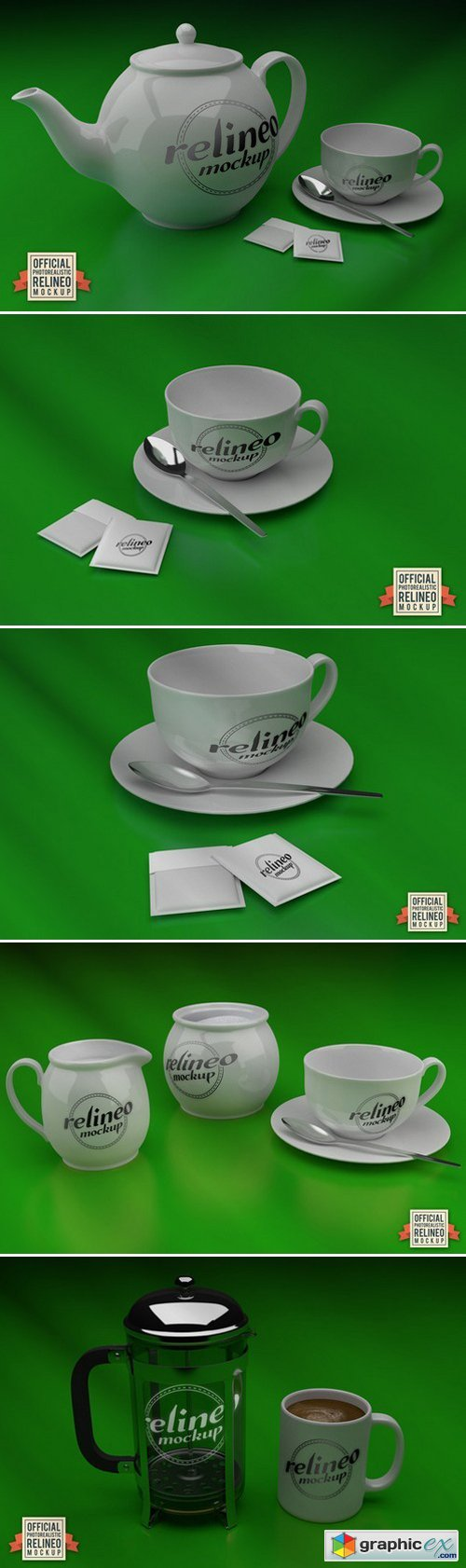 Relineo Tea Cup and Jug Mock-up Pack