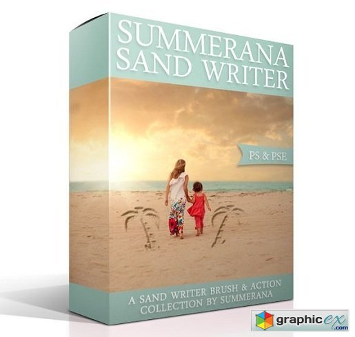 Summerana Sand Writer � Photoshop Action and Brush Collection