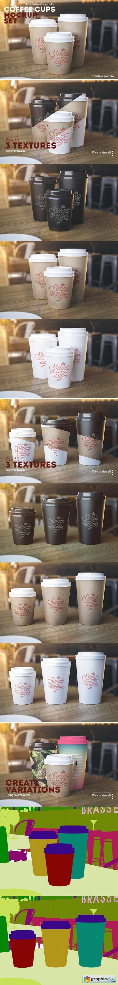 Coffee Cups Mockup