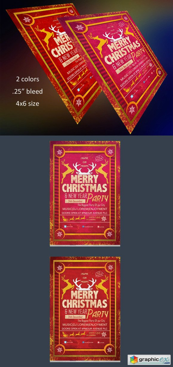 Merry Christmas Flyer Template 468440