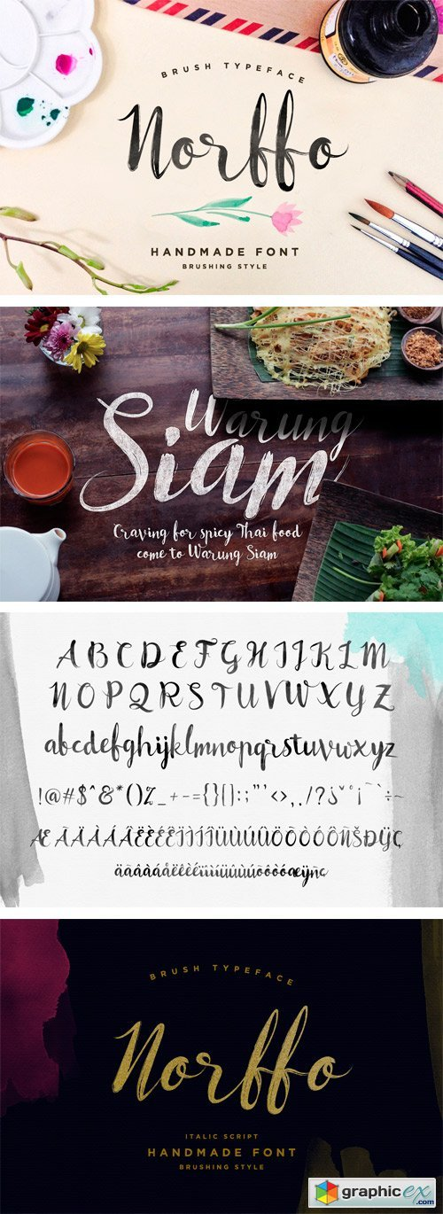 Norffo Font + Watercolor Brush