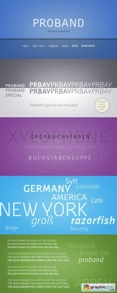 Proband Font Family