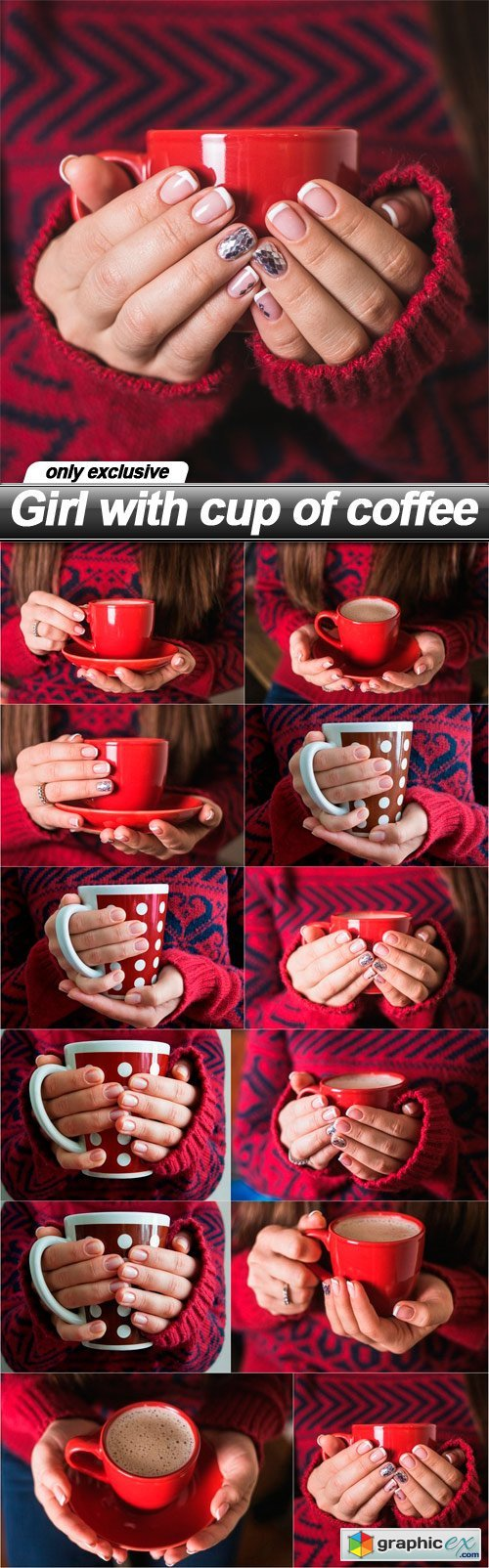 Girl with cup of coffee - 12 UHQ JPEG