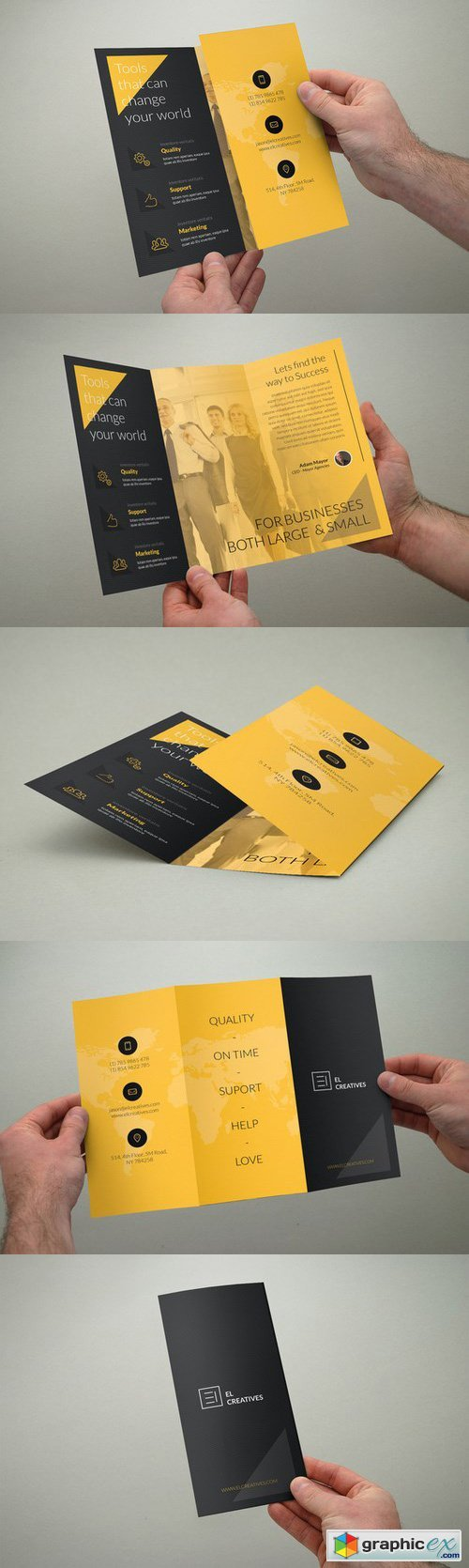 Creative Yellow Trifold Brochure
