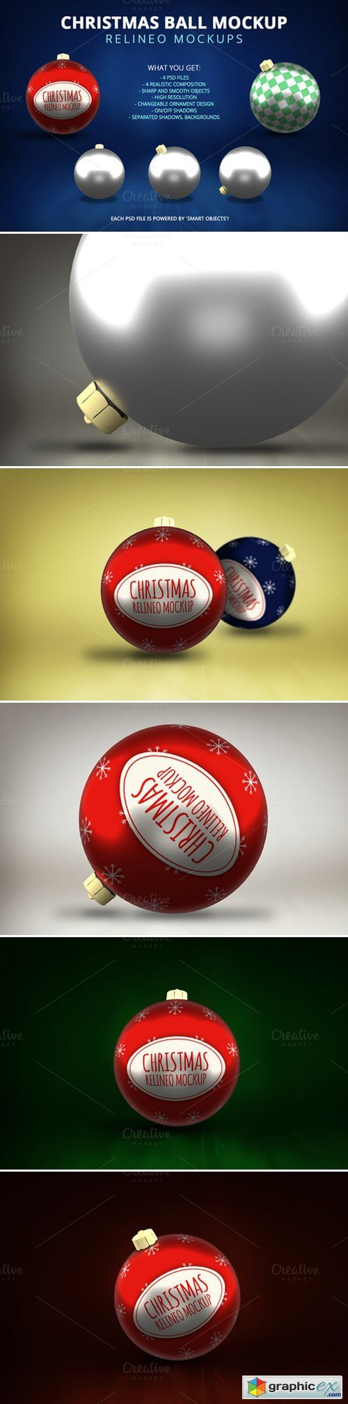 RELINEO - Christmas Ball Mockup Pack