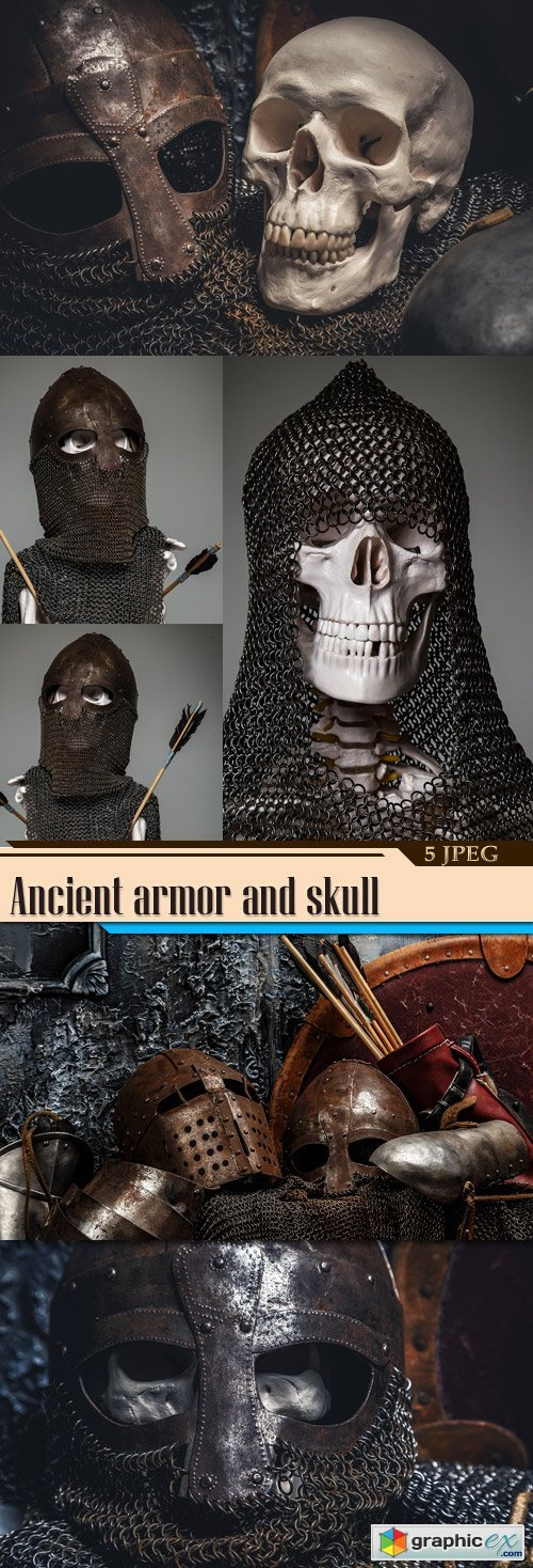 Ancient armor and skull