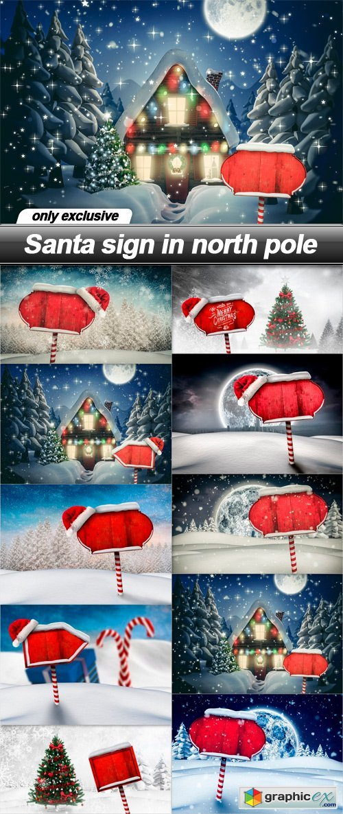 Santa sign in north pole - 10 UHQ JPEG