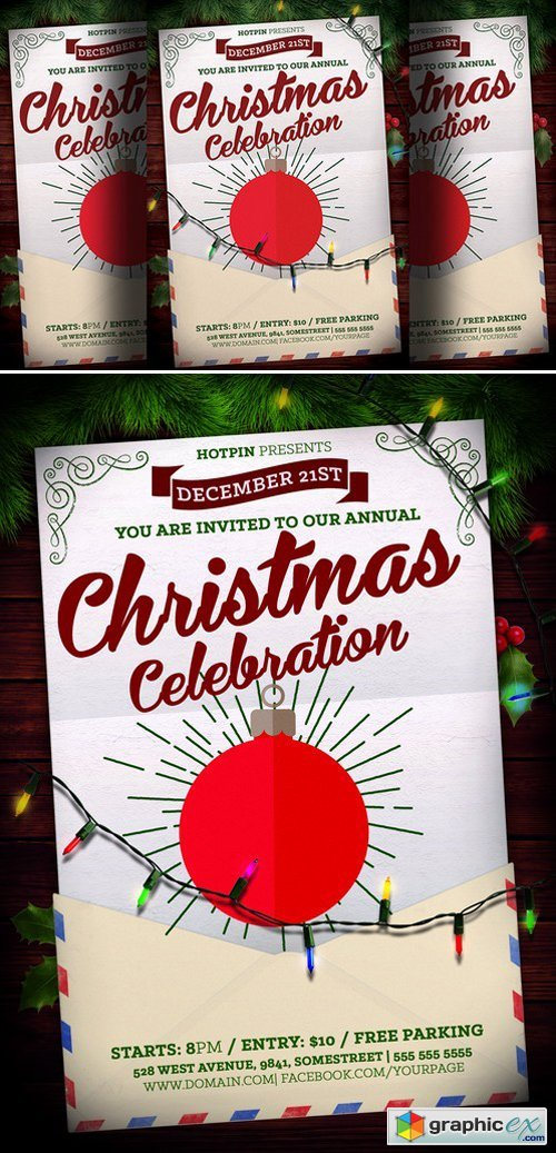Christmas Event Flyer Template 433638