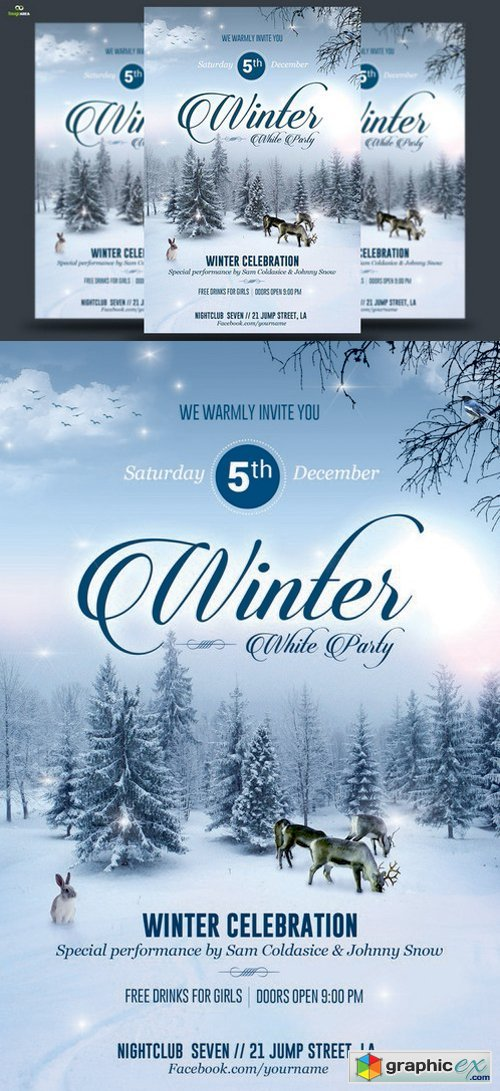 Winter Party Flyer 422048
