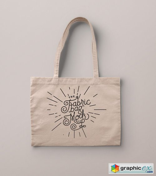 Psd Tote Bag Fabric Mockup