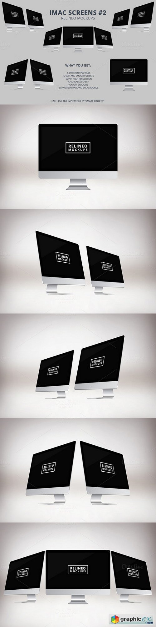Relineo iMac Mockup Pack - #2