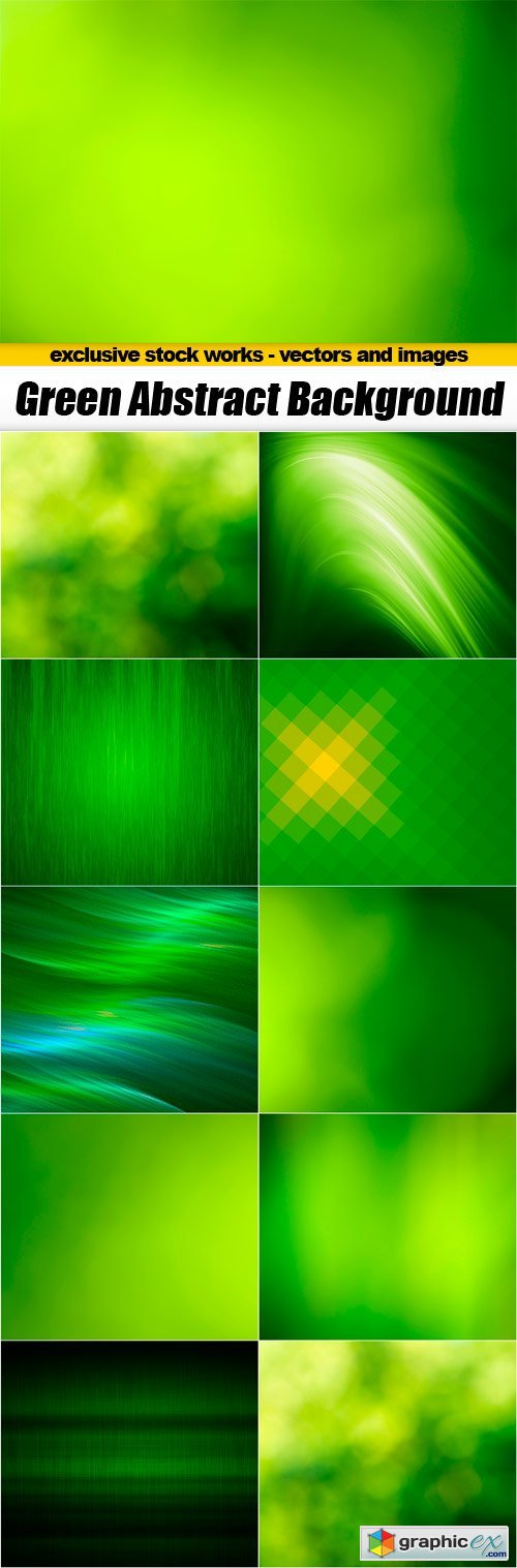 Green Abstract Backgrounds - 10x JPEGs