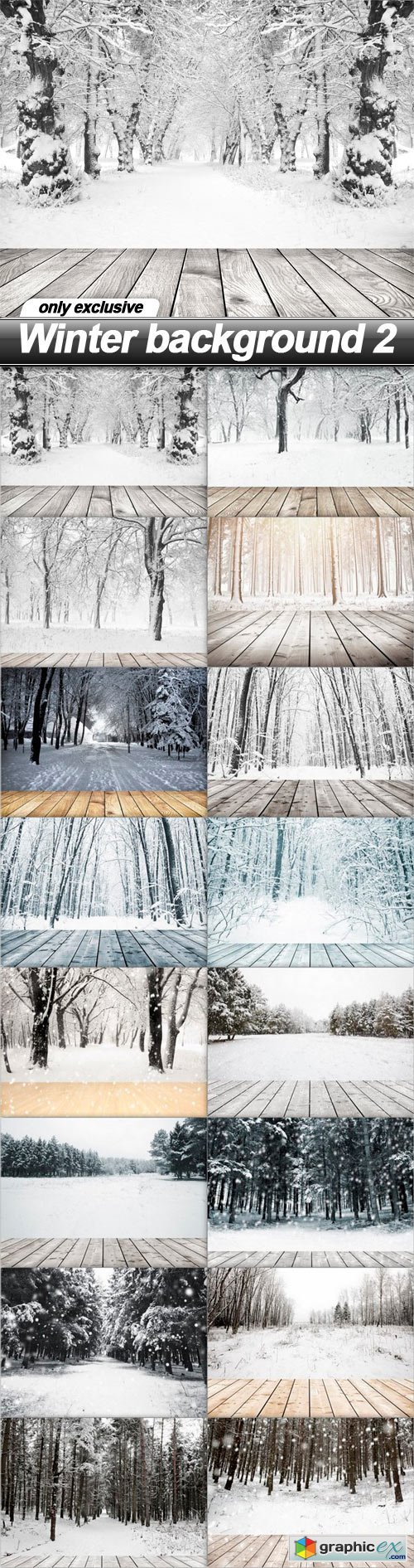 Winter background 2 - 16 UHQ JPEG
