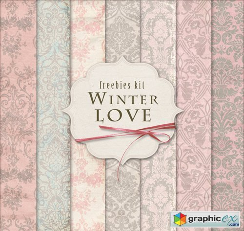 Ornamental Background Textures - Winter Love