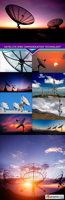 Satellite dish communication technology 10x JPEG